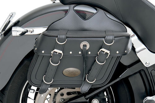 All American Rider Box-Style Slant Saddlebags Large, Rivet