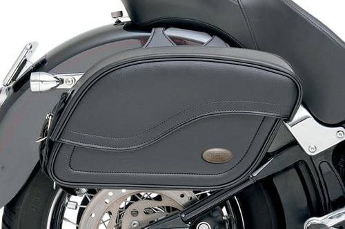 All American Rider Extra -Large Futura 2000 Slant Saddlebags -Plain