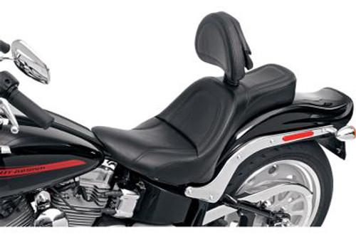 Saddlemen King Seat for '00-05 FXST & '00-05 FLST (Except FXSTD/FLSTN) With Driver Backrest