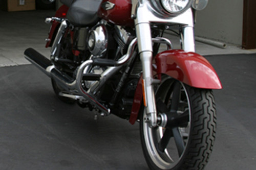 Lindby Front Multibarfor Dyna Switchback '11-15 -Gloss Black Powder Coated (Shown in Chrome)