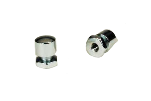 Mustang Solo Nuts   for '99-Up FLHT/FLTR -Pair