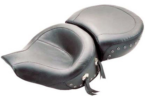 Mustang  One-Piece Touring Seat  for Road King '94-96 -Black Studs