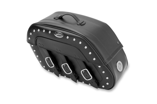Saddlebags feature high/low red LED auxiliary lights