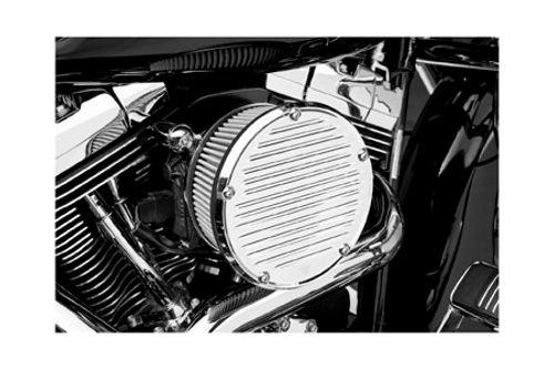 Arlen Ness Big Sucker Derby Cover Air Kit for Harley Davidson '00-17  Carb & FL Models  (Excludes 08-17 FLH, FLT; 16-17 FLSTFS, FLSS ) - Black (COVER NOT INCLUDED)