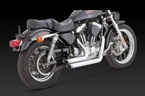 Vance & Hines Shortshots Staggered for '99-03 XL -Chrome