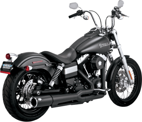 Vance & Hines 2 into 1 Pro Pipe for Harley Davidson Dyna '12-17 - Black