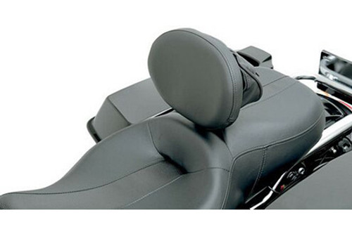"""Drag Specialties Large Pivoting Pad (10 x 7.5"""") Driver Backrest Assembly Kit for '88-12 Dresser/Touring Models -Tall Bar, Solar Reflective Leather Frame Mount EZ Glide Mechanism is sold separately"""