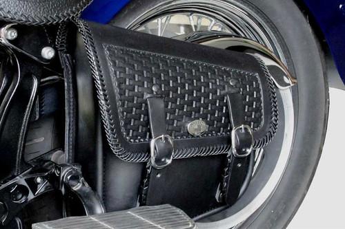 Boss Bags  Swingarm Bag #9D for Softails Basket Weave