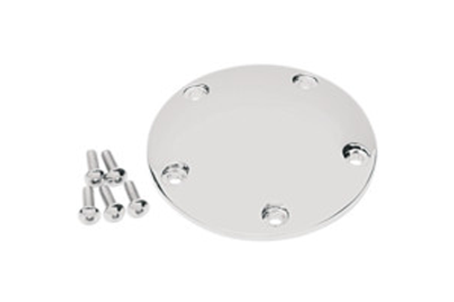Drag Specialties Chrome Spherical Radius Point Cover for '99-17 Twin Cam (no Gasket)