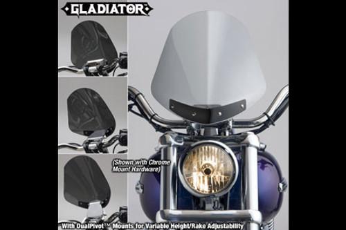 National Cycle Gladiator Windshield for FXDB '06-07 Light Tint w/ Wrinkle Black Hardware