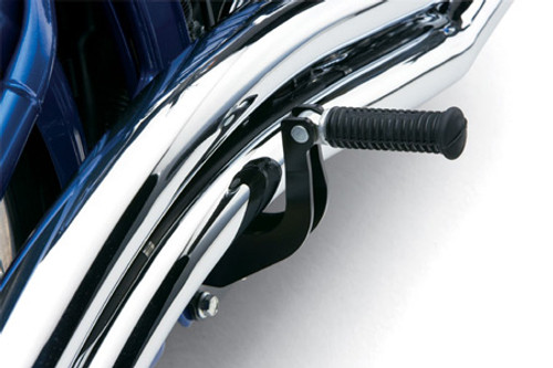 Cobra Passenger Relocation Bracket for Softail '86-11 With Cobra Swept Exhaust Installed