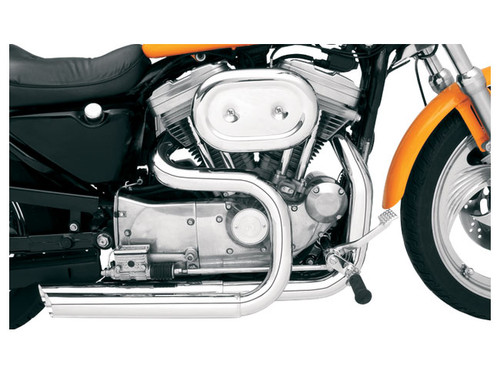 Optional Chrome Bassani Heat Shields for XL Models '07-13 w/ Forward Controls & '86-03 XL Models w/ Forward Controls