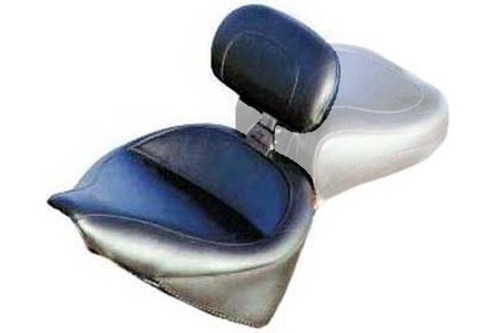 Mustang  Solo Seat with Driver Backrest  for Softail '84-99  -Wide Vintage