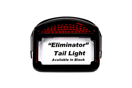 Cycle Visions Eliminator LED Taillight/License Plate Frame -XL '04-Up (Except 883N/1200N) -Black