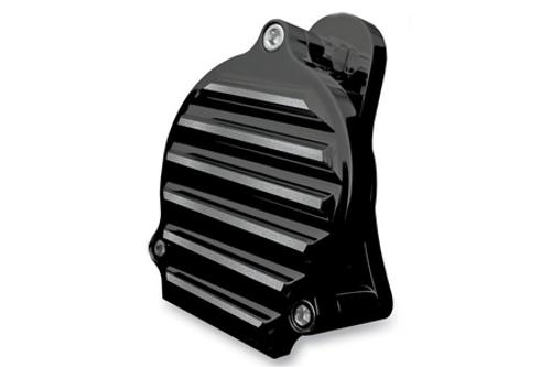 Covingtons Customs Billet Aluminum Horn for '90-12 H-D Models w/ Cowbell Style Horn Cover -Gloss Black Powder Coat