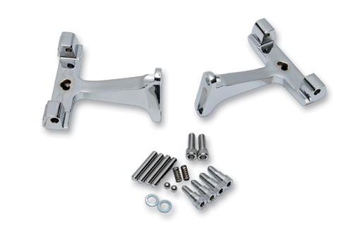 Drag Specialties Standard Passenger Floorboard Mounts for '93-16 FLHT/FLHR/FLTR Models -Chrome repl. OEM # 53070-00A