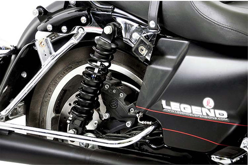"""Legend Suspensions Revo Shock Absorbers for '99-Up FLHT, FLHR, FLTR & Lo-Pro Equipped Models (except H-D FL Trike, FLHRSE) -Heavy Duty 13"""" Long"""