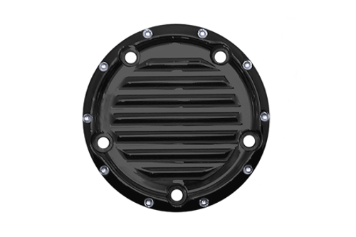 Covingtons Customs Points Cover for '99-Up Twin Cam Models -Gloss Black Powdercoat, Dimpled