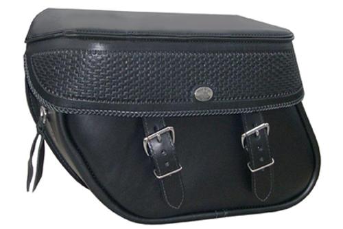 Boss Bags #36 Model  Basket Weave Style w/ a Braided Lid Valence