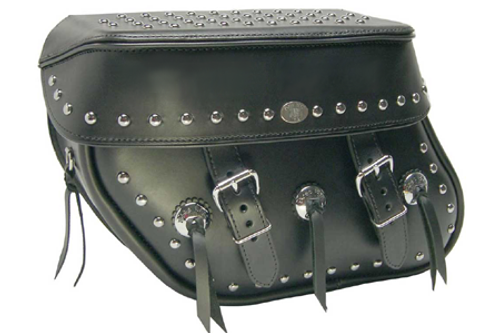 Boss Bags #36 Model  Studded on Lid Valence, Body and Top w/ Conchos on Bag Body
