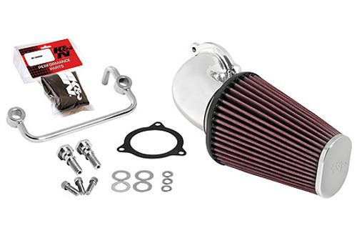 K & N  Aircharger Performance Intake Kit for  '08-16 FLHR/FLHT/FLHX/FLTR Bright Mirror