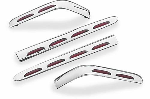 Kuryakyn L.E.D. Saddlebag Molding for GL1800 '01-10 -Set (4 pcs)