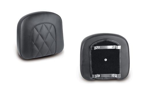 "Mustang  Bracket Style Sissy Bar Pad -Diamond Stitch, Black (9.5"" x 9"")"