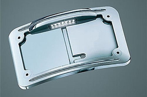 Kuryakyn Lighted Vertical Side Mount License Plate Holders Lighted Curve