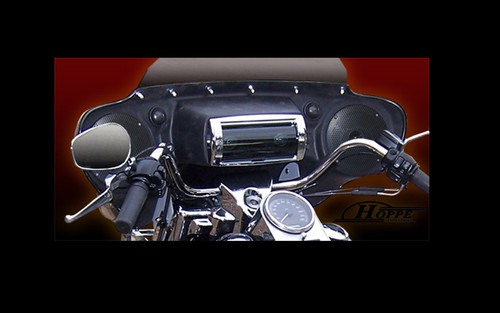 Hoppe Industries Sportzilla Fairing w/ Stereo Receiver for '96-13 FLHR Models (except FLHRS) w/ OEM Quick Detach Windshields