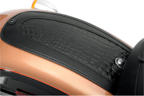 Drag Specialties Fender Skin for '84-99 FXST, FLST,  '91-05 FXD/FXDWG '84-96 FLT/FLHT/FLHR -Embossed Gator Leather Center