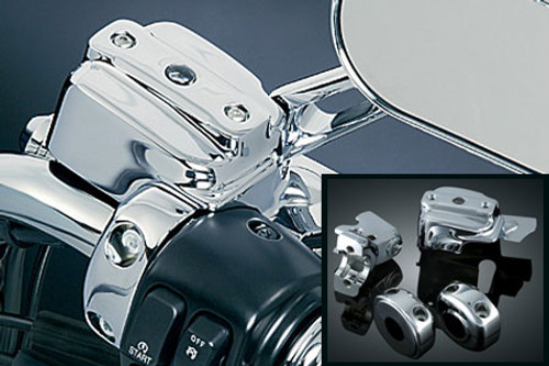 Kuryakyn Hand Control Chrome Dress-up/Cover Kit for Most Harleys w/ Dual Disc
