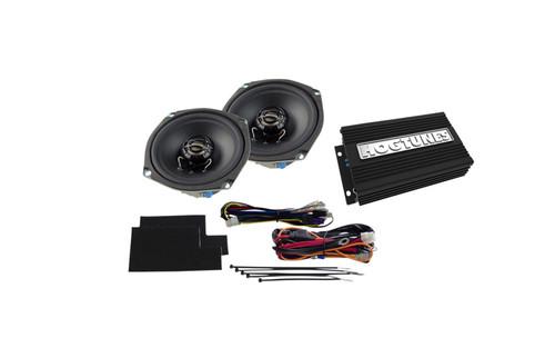 Hogtunes Amp/Front Speaker Kit for '98-13 FLHT/FLHX