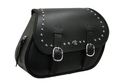 Boss Bags Close Fitting  #37 Model Studded for Softail Models