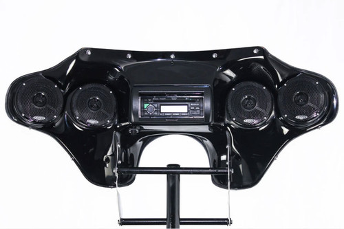 Hoppe Industries Quadzilla Fairing with Audio for '08-Up Triumph Rocket III Models w/ OEM windshield mounts