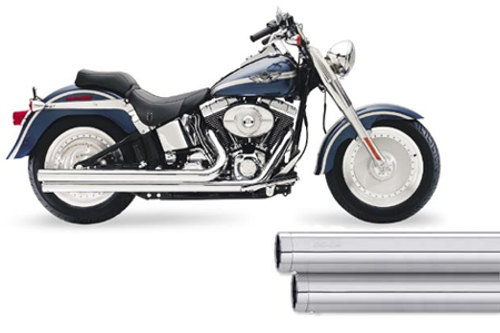 SuperTrapp Mean Mothers  Drag Pipes for H-D Softails '86-11 -Long version - Chrome