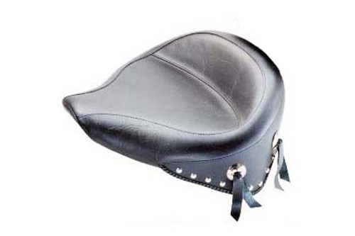 Mustang Wide Solo Seat for Softail FXST '06-Up & Fat Boy FLSTF '07-Up w/ 200mm Wide Tire -Studded