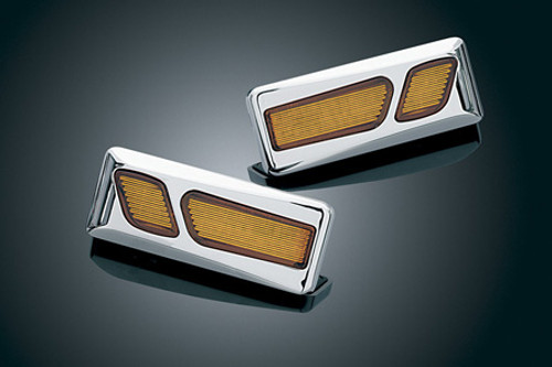 Kuryakyn  L.E.D. Front Reflector Conversion for GL1800 '01-up & F6B (ex. Airbag Models) -Chrome