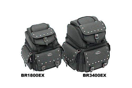 Saddlemen BR3400EX Back Seat/Sissy Bar Bag-Studded