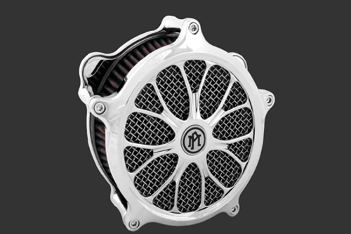 Performance Machine Heathen Faceplate for Super Gas Air Cleaners - Chrome