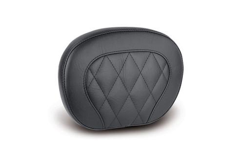 "Mustang Seats  Diamond Stitch Setback Sissy Bar Pad 12"" x 9"", No Studs, No Conchos,  for Medallion Style Sissy Bar  Black"