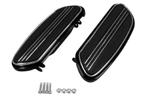 Biker's Choice Floorboards for '86-10 FL Touring & FL Softail Models -Black