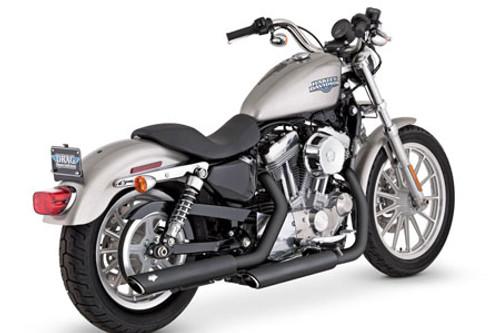 Vance & Hines Twin Slash Slip-Ons for Harley Davidson XL '04-13 -Black