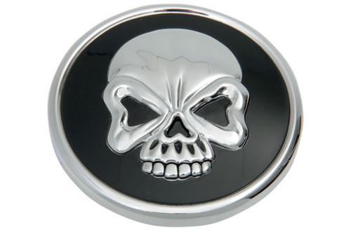 Drag Specialties Raised Skull Gas Cap for 82-E96 H-D Models  -Non-Vented