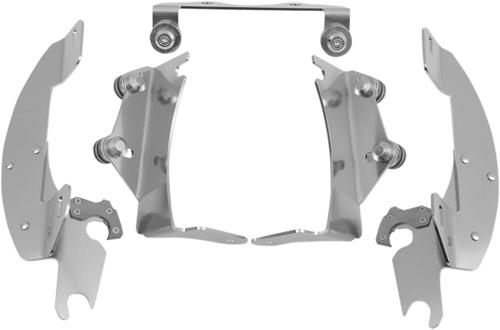 Memphis  Shades  Batwing Windshield Mounting Kit for Vulcan 900 Classic   '06-Up-Polished FAIRING AND WINDSHIELD NOT INCLUDED