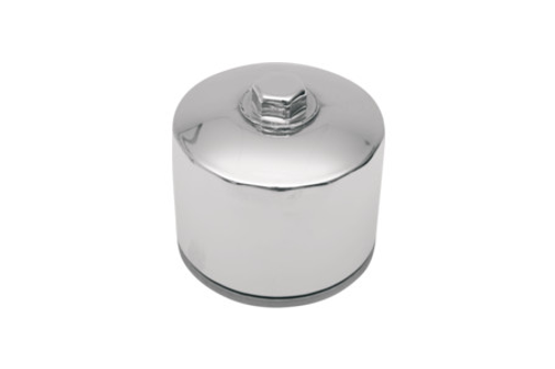 """Drag Specialties Spin On Oil Filter for '85-86 FX (2-1/4"""") Repl. OEM#'s 63782-80 & 63810-80 -Chrome with Nut"""