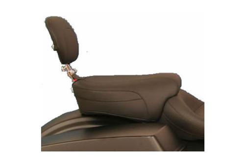 Mustang Seats Passenger Seat with Passenger Backrest for Harley Davidson Touring Models 1997-Up -Vintage