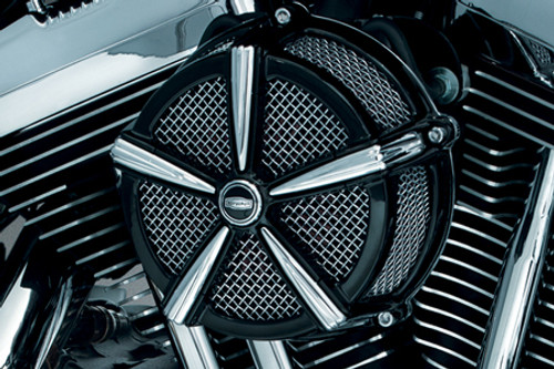 Kuryakyn Hi Five Mach 2 Air Cleaner Kit for '07-Up XL Models -Black & Chrome