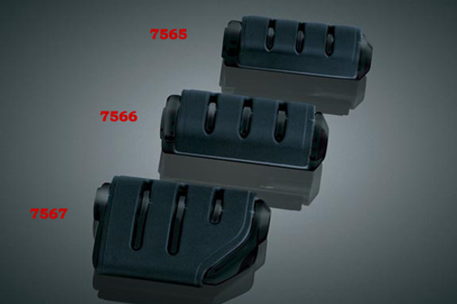 Kuryakyn Trident Dually ISO Pegs without Adapters -Black   Does not fit the Sportster 48, 72  & '11-12 XL1200C Models