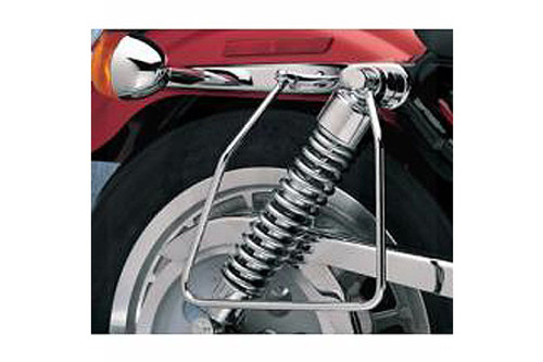 Drag Specialties Chrome Saddlebag Support Brackets for '82-93 XL Models Replaces OEM #90799-86