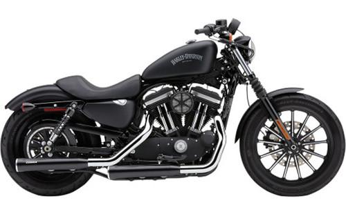 Cobra 3 inch RPT Slip-On Mufflers w/ Racepro Tips for '04-13 Harley Davidson Sportster XL -Black